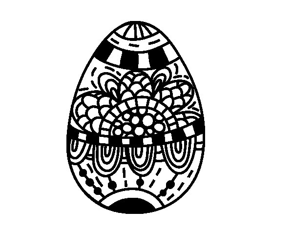 A floral easter egg coloring page