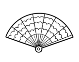 A handheld fan coloring page