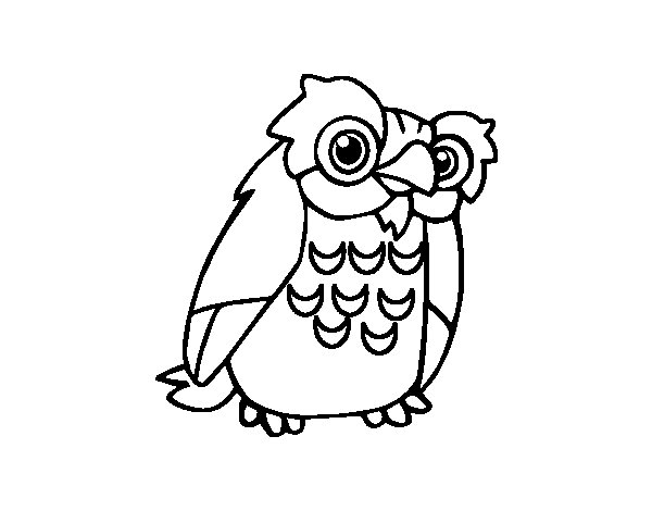 A owl coloring page