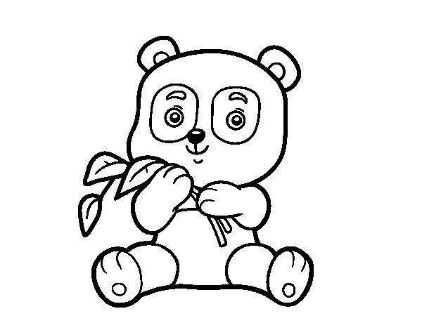 A panda coloring page