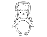 Dibujo de A penguin with cap