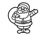 A santa claus coloring page
