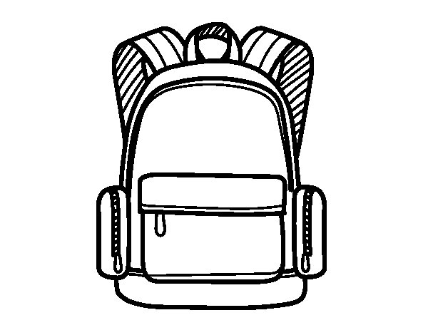 A school backpack coloring page Coloringcrewcom