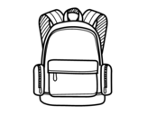 A school backpack coloring page