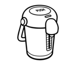 A thermos coloring page