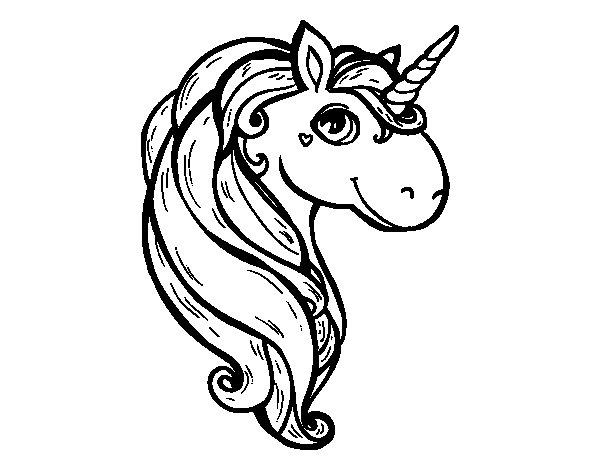 A unicorn coloring page