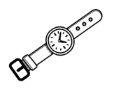 A wristwatch coloring page