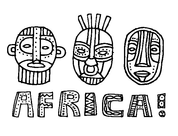 African tribes coloring page