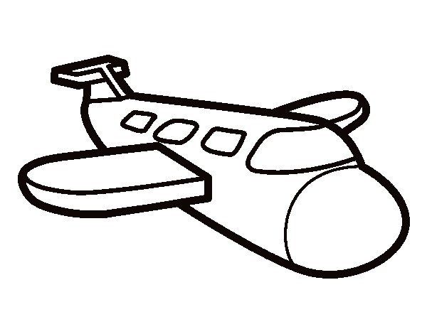 Airbus coloring page