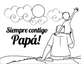 Always with you daddy coloring page