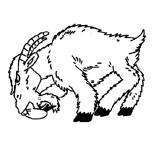 Angry goat coloring page