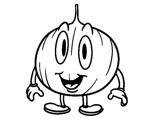 Animated Onion coloring page