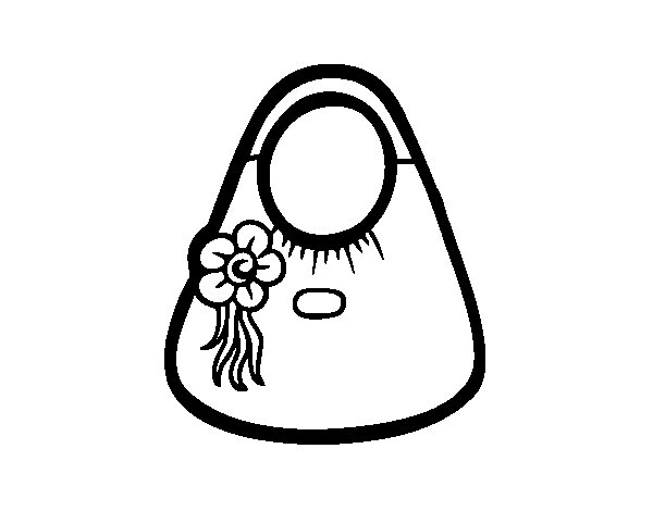 Bad with flower coloring page