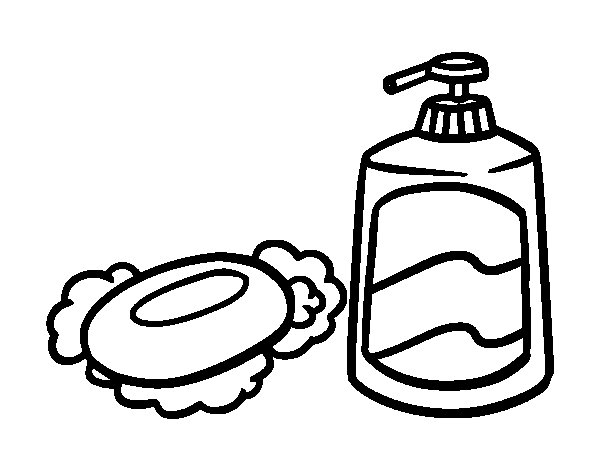 Soap Coloring Page Bath Soaps Coloringcrewcom