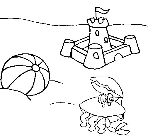 Beach 2 coloring page