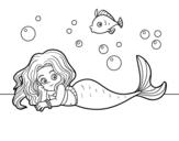 Beautiful Mermaid coloring page