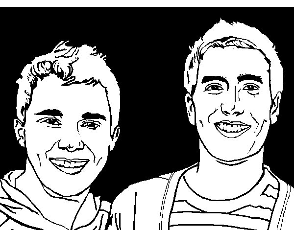 Big time Rush 3 coloring page