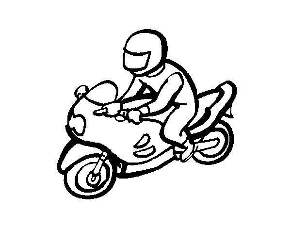 Biker coloring page
