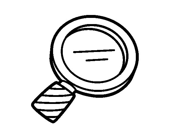 Biology Magnifying Glass Coloring Page