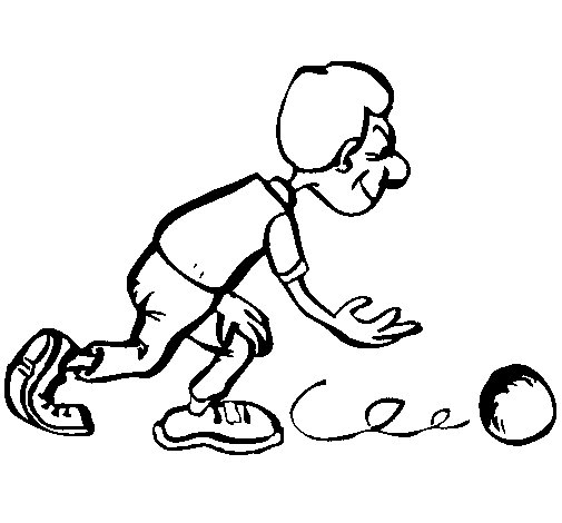 Bowler coloring page