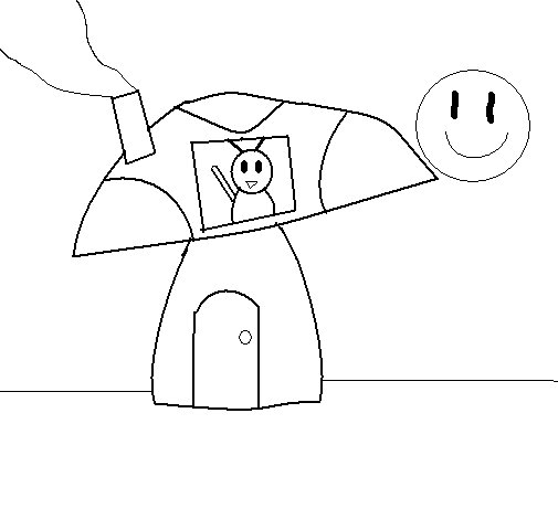 Buggy coloring page