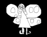 Dibujo de Butterfly Fairy