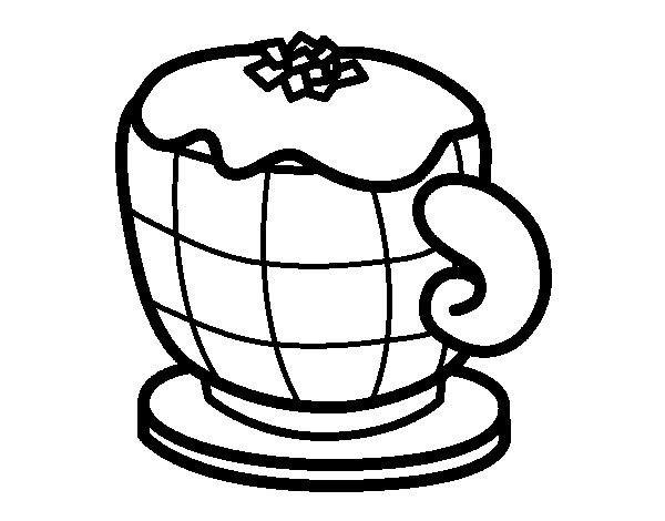 Cappuccino coloring page