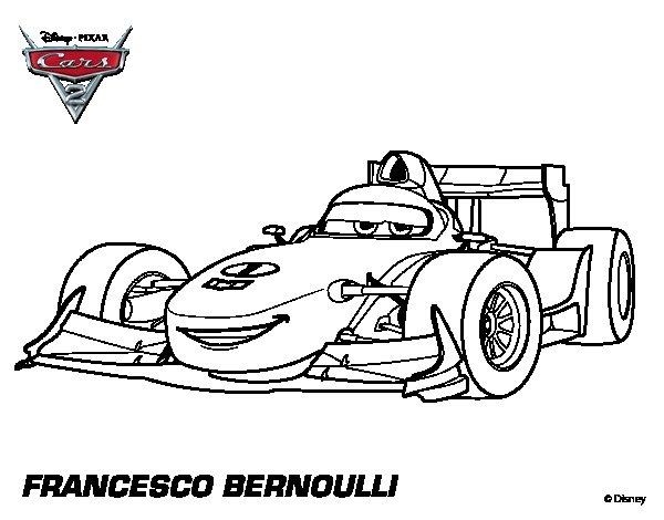 Cars 2 Francesco Coloring Pages
