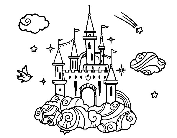 Castle in the Clouds coloring page