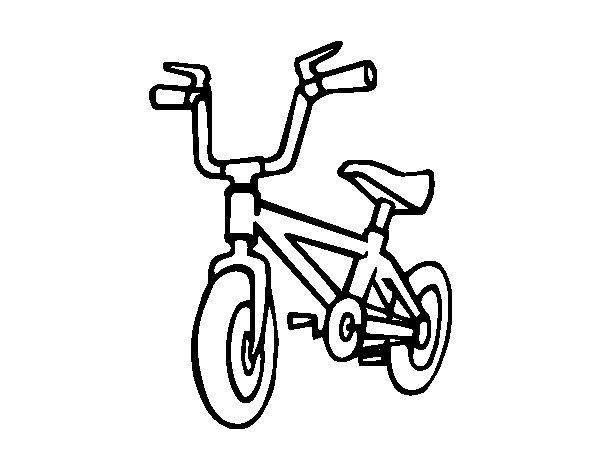 Childish bike coloring page