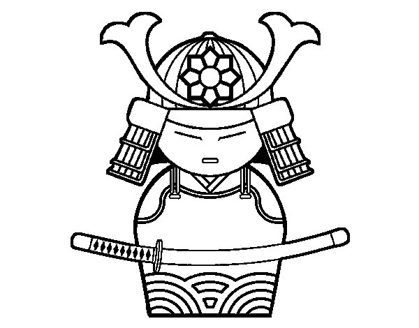Chinese warriors coloring pages