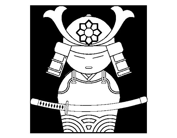 Chinese Samurai coloring page  Coloringcrewcom