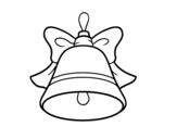 Christmas decoration Bell coloring page