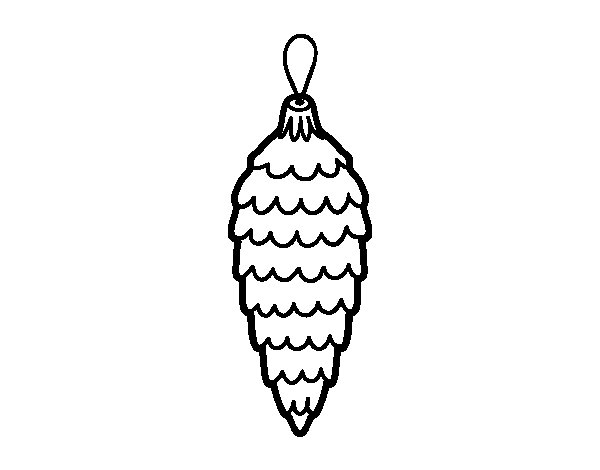 Christmas pendant coloring page