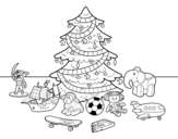 Dibujo de Christmas tree with some toys