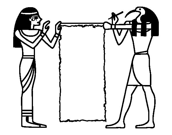 Cleopatra and Thot coloring page