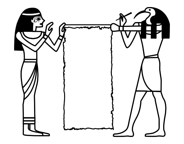 Cleopatra and Thot coloring page  Coloringcrewcom