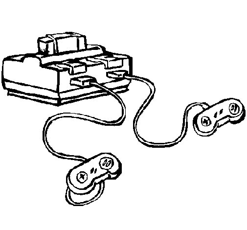 Console coloring page