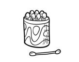 Cotton buds for the ears coloring page