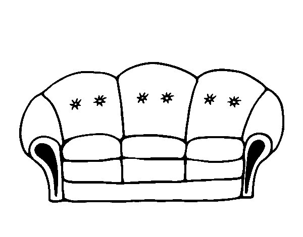 coloring pages couch - photo #10