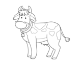 Cow farm coloring page