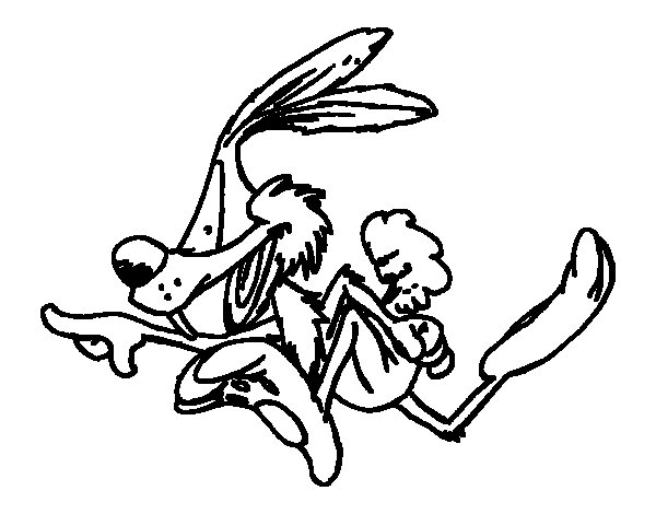 Coyote running coloring page