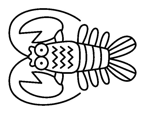 Crustacean coloring page