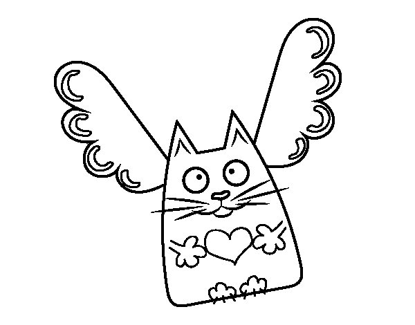 Cupido Cat coloring page
