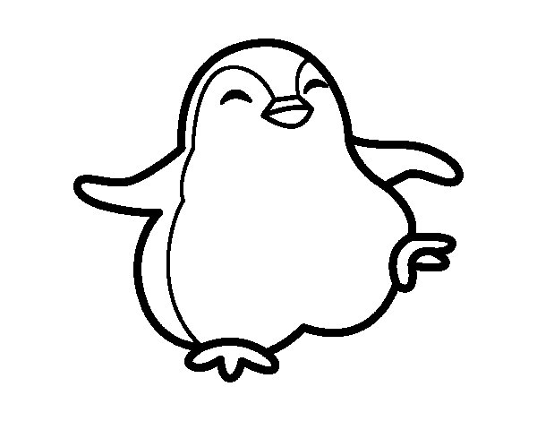 Little Blue Penguin Coloring Page Dancing Penguin Coloring Page
