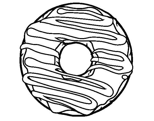 Donut coloring page - Coloringcrew.com
