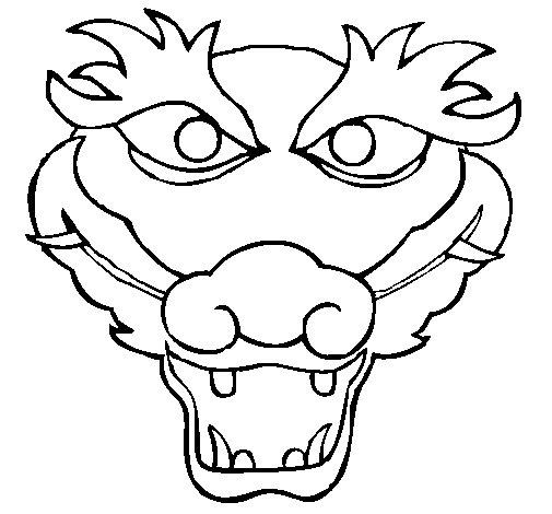 Dragon 5 coloring page