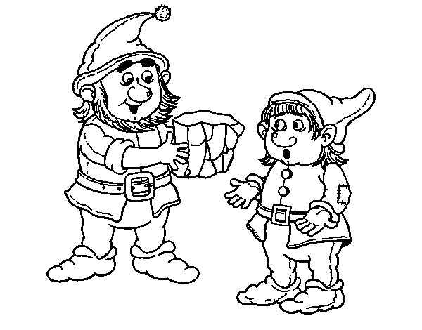 Dwarf master and apprentice coloring page