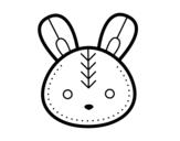 Dibujo de Easter bunny face