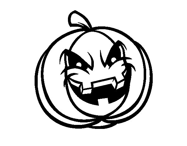 Evil Scary Pumpkin  coloring page